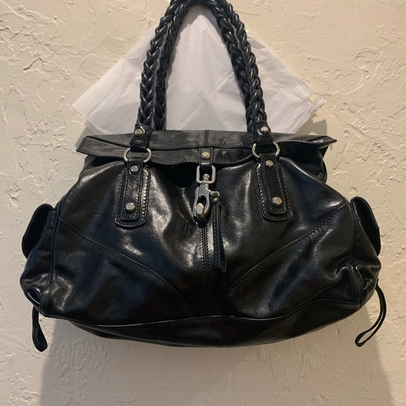 Black leather like new Handbag